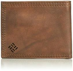 Columbia  Men's  Leather Extra Capacity Slimfold Wallet,Ligh