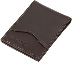 Columbia Men's Leather Front Pocket Wallet,Brown,