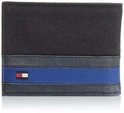 Tommy Hilfiger  Men's  Leather Passcase Wallet with Removabl