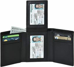 Clifton Heritage Men's Leather RFID Blocking 7-Slot Trifold