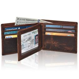 Clifton Heritage Men's Leather RFID Blocking Bifold Small Br