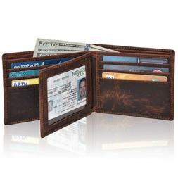 Clifton Heritage Men's Leather RFID Blocking Bifold Wallet