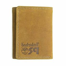 Timberland PRO Men's Leather RFID Trifold Wallet with ID Win