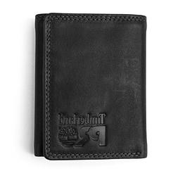 Timberland PRO Men's Leather Trifold Wallet with ID Window,