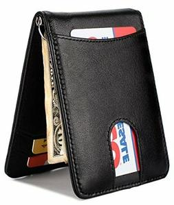 Hissimo Men's Leather Wallet Pull Tab Slim,ID Photo Money Cl