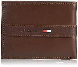 Tommy Hilfiger Men's Leather Wallet - Thin Casual Passcase w