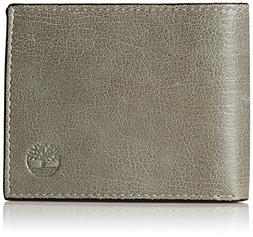 Timberland Men's Leather Wallet with Attached Flip Pocket, G