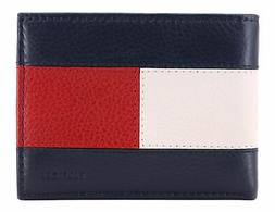 Tommy Hilfiger Men's Premium Leather Double Billfold Passcas