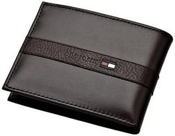 Tommy Hilfiger Men's Leather Bifold Wallet with Removal Card