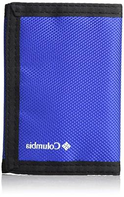 Columbia Men's RFID Blocking Nylon Trifold Wallet,Blue,One S