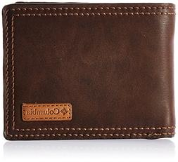 Columbia Men's RFID Blocking Passcase Wallet, Dark Tan, One
