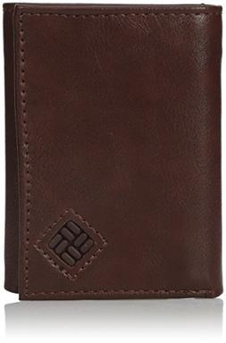 Columbia Men's RFID Blocking Security Trifold Wallet, Brown