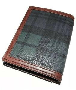 POLO RALPH LAUREN MEN'S TARTAN PLAID BIFOLD FRONT POCKET CAR