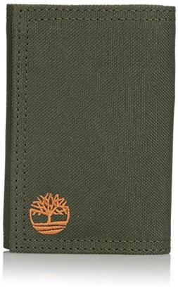 Timberland Men's Trifold Nylon Wallet, Olive, One Size