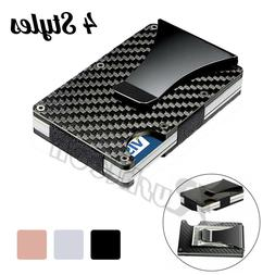 Men's Wallet RFID Blocking Slim Money Clip Credit ID Card Ho