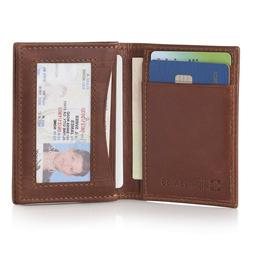 Men Ultra Slim Wallet Small Credit Card Thin Leather Holder