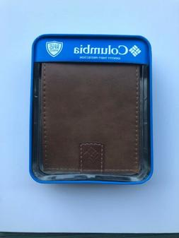 Columbia/Mens Columbia Bifold Leather  brown Wallet New