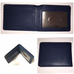 Hissimo Mens Bifold Wallet Slim Front Pocket ID Window Card