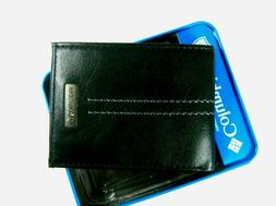 Columbia Mens Front Pocket Leather Wallet Black 31CP130004 R