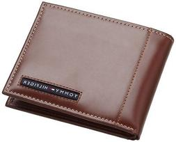 Tommy Hilfiger Mens Leather Cambridge Passcase Wallet with R