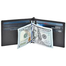 Clifton Heritage Mens Money Clip, Front Pocket Wallet, Leath