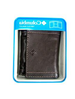 Columbia Mens Trifold Leather Wallet Brown 31CP1109
