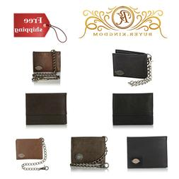 Mens Wallet Chain Leather Security Bifold Truckers Classic S