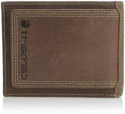 Mens Wallet Carhartt Top Grain Leather Passcase Contrasting