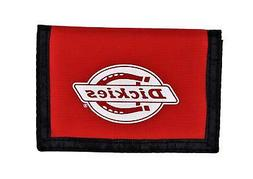 Dickies Mens Washed Nylon Trifold Wallet Red