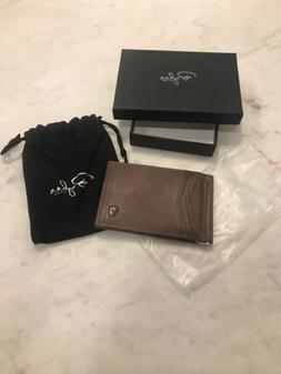 minimalist id wallet texas brown
