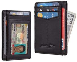 Travelambo Minimalist Slim Front Pocekt Wallet for Men and W