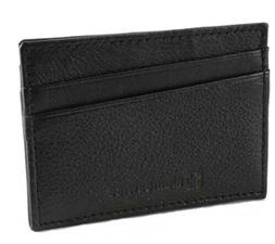 Alpine Swiss Minimalist Super Thin 5 Card Wallet Genuine Lea