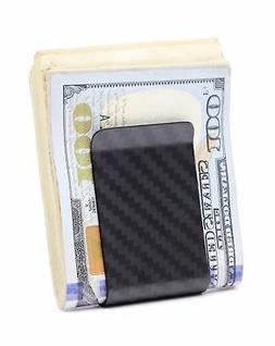 Kinzd Money Clip Carbon Fiber Minimalist Wallet Credit Card