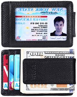 kinzd Money Clip, Front Pocket Wallet,Leather RFID Blocking