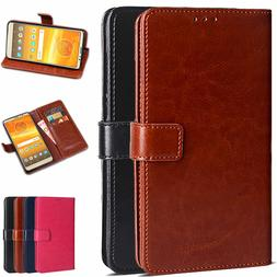 For Motorola Moto E5 Plus /E5 Supra PU Leather Wallet Card F