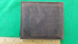 NEW, Clifton Heritage Brown Tobacco Leather Wallet w/ID Hold