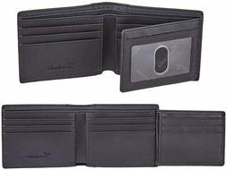 NEW Genuine Leather RFID Blocking Wallets Mens Wallet Bifold