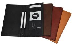 New Hand Crafted Genuine Soft Leather Checkbook Cover Top te