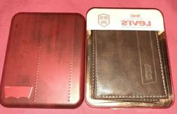 NEW Levi's Mens Bi-Fold Wallet with RFID Protection and ID H