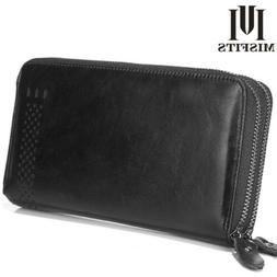 New Men Big Capacity Bifold  Genuine Leather Large Wallet ID