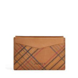 NEW FOSSIL MEN'S LEATHER AMES CARD CASE FRONT POCKET WALLET