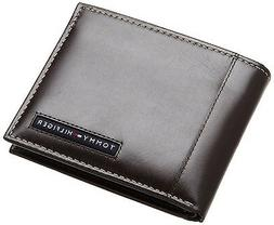 NEW TOMMY HILFIGER MEN'S LEATHER CREDIT CARD WALLET PASSCASE