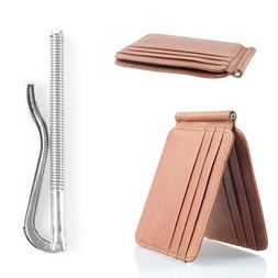 New Slim Wallet with Money Clip Finest Leather RFID Minimali