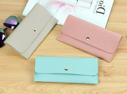 New Wallet for Woman Pu Leather Lady Fashion Long Clutch Lit