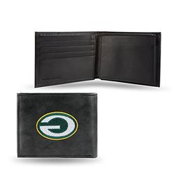 NFL Green Bay Packers Embroidered Leather Billfold Wallet