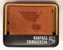 Rico Industries NHL St. Louis Blues Embossed Leather Trifold