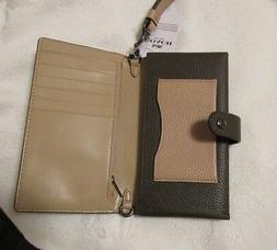 NWT COACH MULTIFUNCTION SNAP LEATHER WALLET-PHONE CASE-WRIST