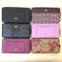 NWT Coach Zip Around Accordion Wallet Various Color F54007 F