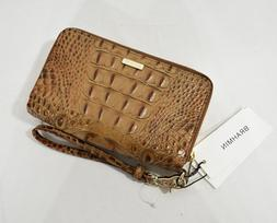 NWT Brahmin Zora Double Zip Leather Wallet/ Wristlet in Toas