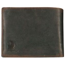 """CARHARTT 61-2234-20 Passcase Wallet, Leather,4-3/8"""" W"""